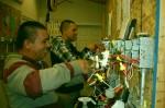 entrenamiento de empalme y conexiones dispositivas según el código nacional, los principiantes