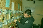 entrenamiento de empalme según el código nacional y conexiones dispositivas, los principiantes